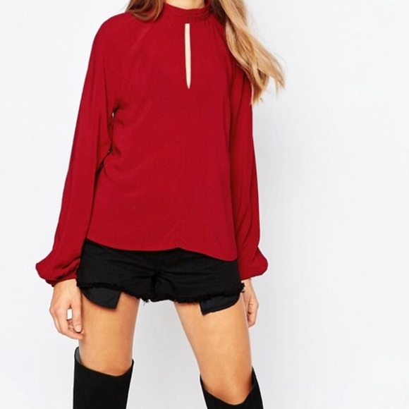 ASOS Tops - NWT- ASOS High Neck Key Hold Detail Top